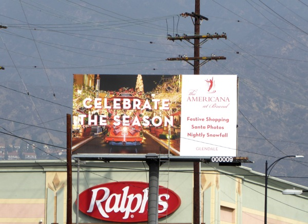 Americana Celebrate the season billboard