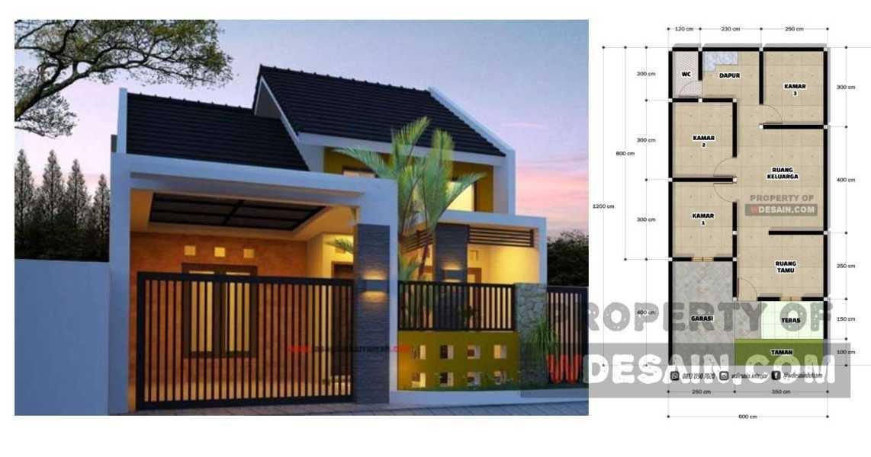 Rumah Minimalis 6x12 Tampak Depan 3 Kamar Tidur Desain Rumah Minimalis