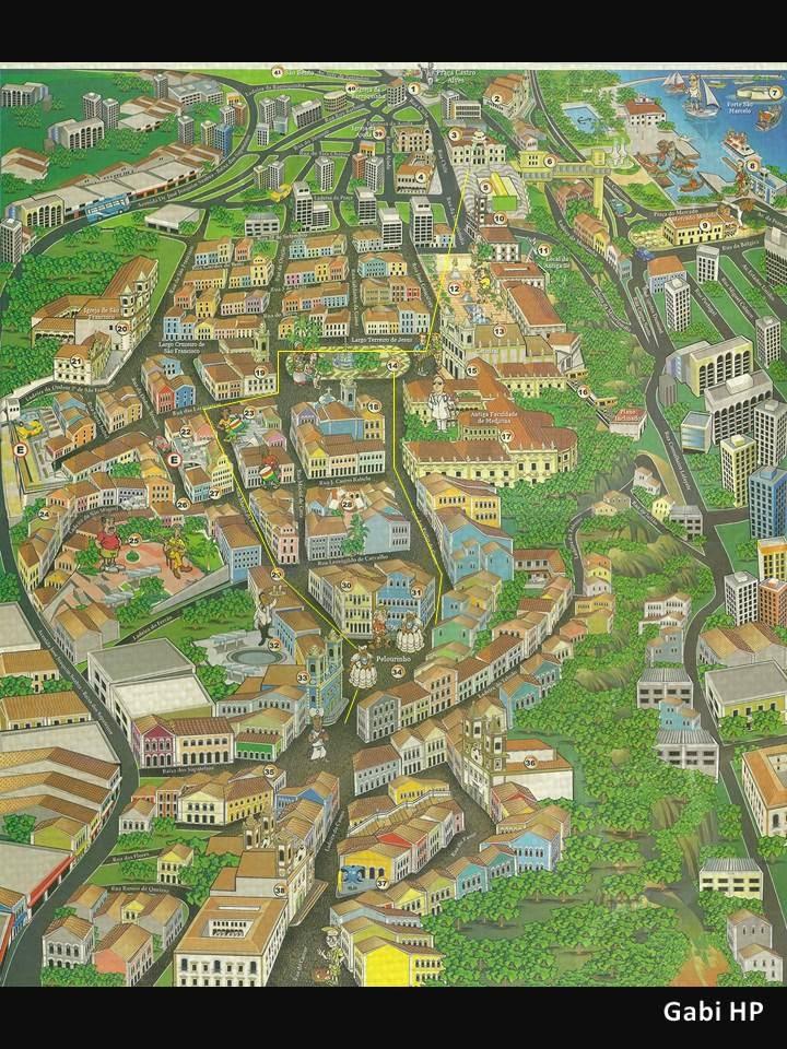 Mapa Pelourinho - Salvador