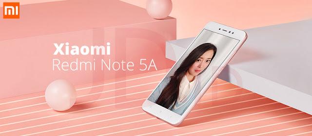termasuk salah satu ponsel android yang sedang trend di semua kalangan pecinta gadget Spesifikasi dan Harga Xiaomi Redmi Note 5A 4G LTE, RAM 3GB / 32GB Android Nougat Dual Kamera 16MP + 13MP