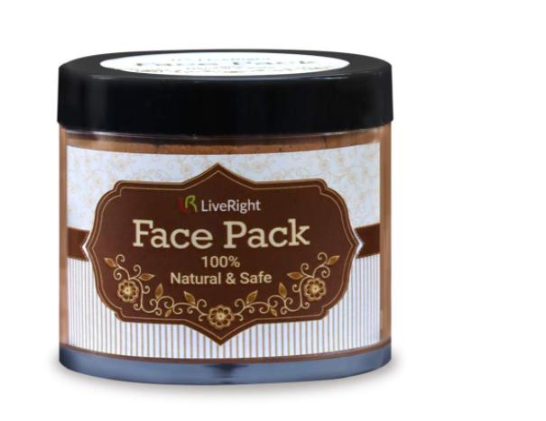 LiveRight LR Red Sandalwood Facepack | Suitable for dry and Sensitive Skin | Reduce Tan | Raktha Chandan | Pure Ayurvedic - GMP & Ayush Certified