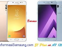 Samsung Galaxy J7+ vs A7 (2017) Harga dan Spesifikasi