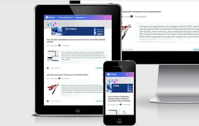 tampilan lebih dinamis, homepage lebih cantik dan menawan