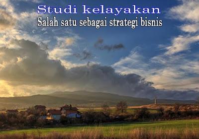 Studi kelayakan - Salah satu sebagai strategi bisnis