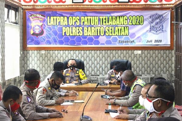 Jelang Operasi Patuh Telabang 2020, Polres Barsel Gelar Latihan Pra Ops