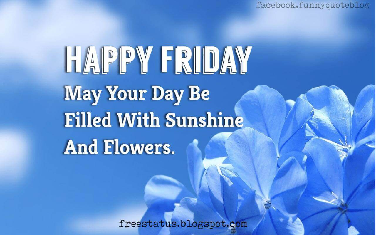 Good Morning, Happy Friday May Your Day Be Filled With Sunshine And Flowers.