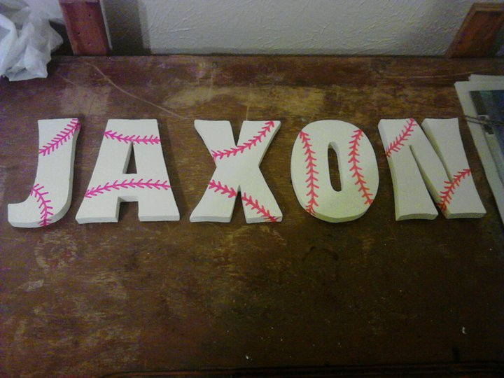 Wal Mart And Painted Them With An Antique White Color So They Look Like Used Baseballs Then I A Red Paint Pen To Make The Baseball Thread Design