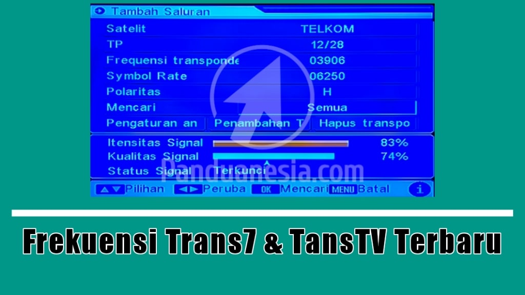 Frekuensi Tran7 dan TransTV Terbaru