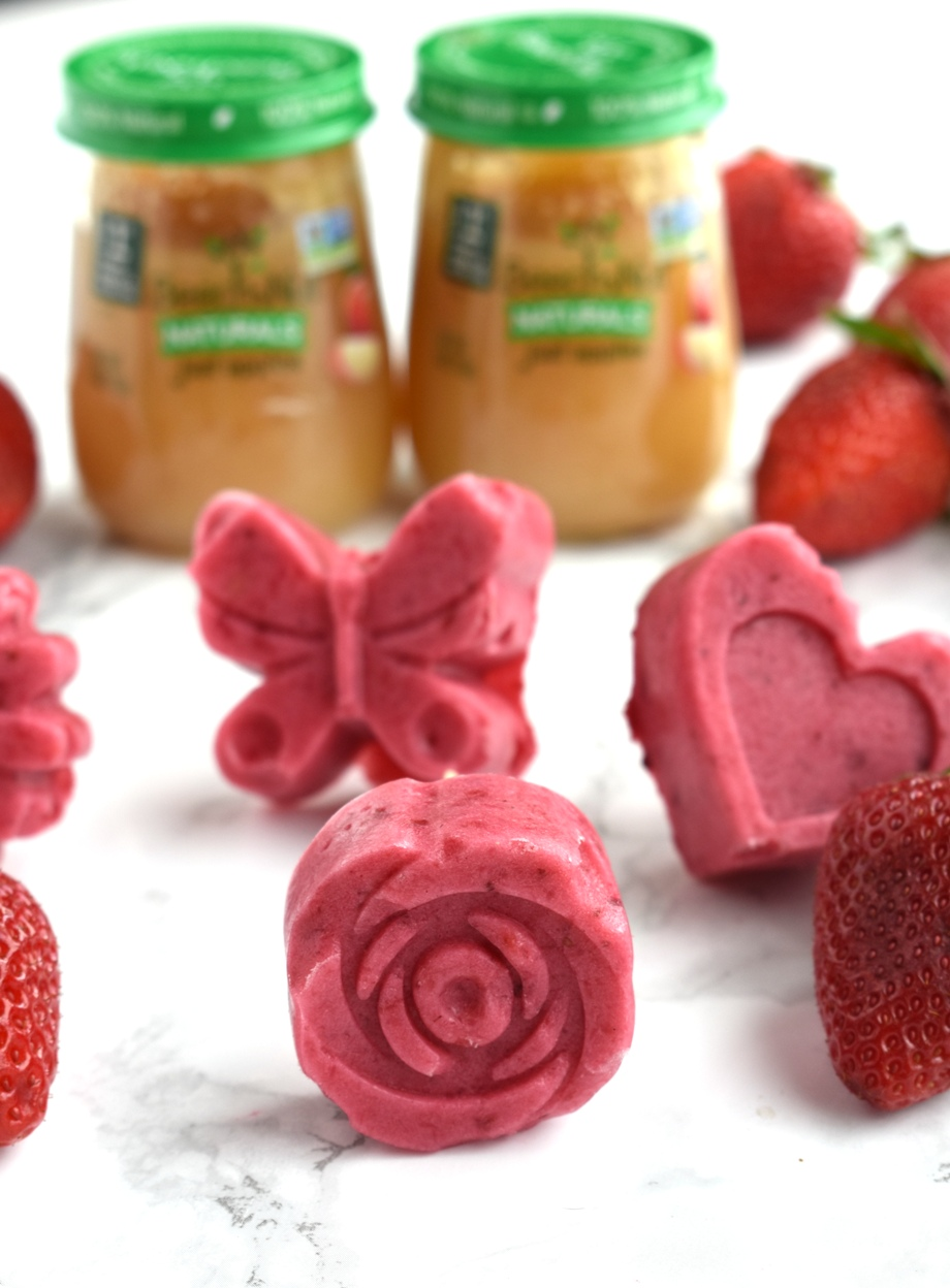 3-ingredient strawberry apple yogurt popsicles