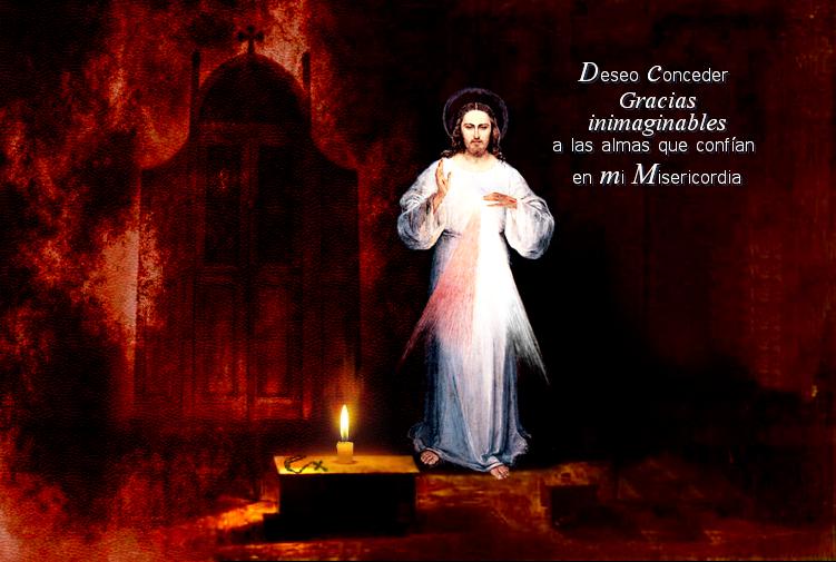 jesus con confesionario para la fiesta de la misericordia