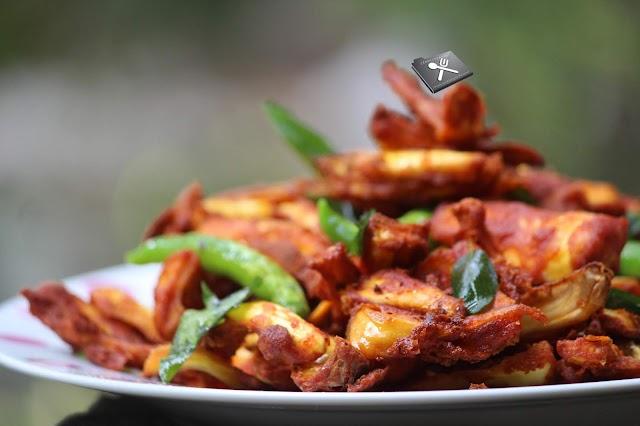 Chakka Chilli / Crispy and Spicy Kathal Fry
