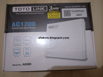 Cara Konfigurasi Wireless Router Totolink A830R