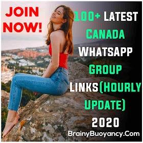 100+ Latest Canada WhatsApp Group Links(Hourly Update) 2020