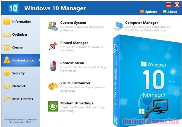 Download Yamicsoft Windows 10 Manager 3.1.2 Full Crack
