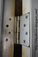 This is the top hinge and it was tightened too