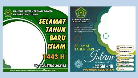 Kumpulan Link Twibbon Tahun Baru Islam 2021 Kemenag