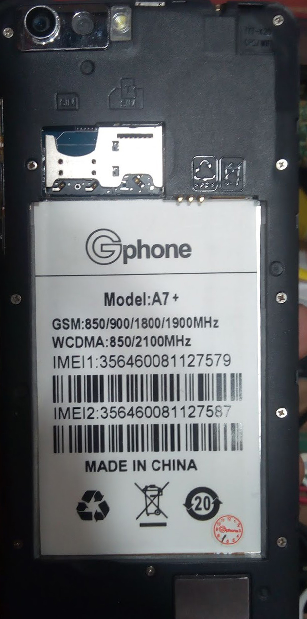 GPHONE A7 PLUS FLASH FILE MT6580 FIRMWARE
