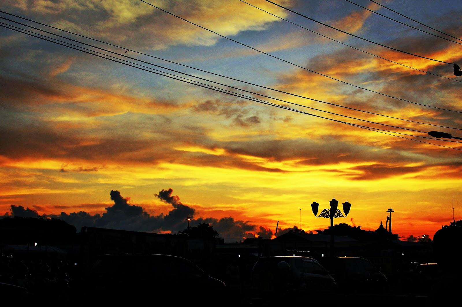 Contoh Lukisan Pemandangan Waktu Senja  Simak Gambar Berikut