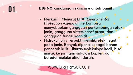 kandungan dan zat berbahaya dalam skincare untuk ibu hamil dan menyusui