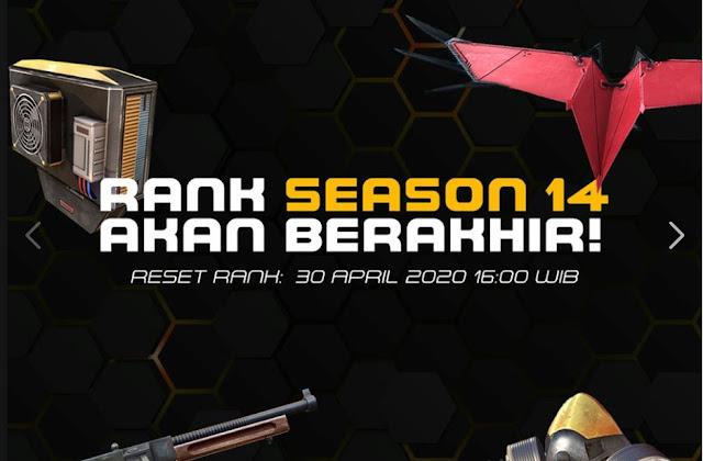 Kapan FF Ganti Season 15 ? Reset Rank Season Season 14 Berakhir