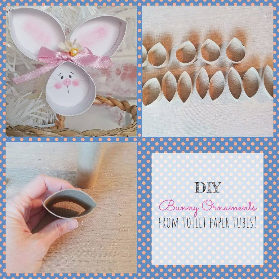 DIY Bunny Ornaments from Toilet Paper Tubes!