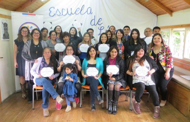 Egreso de 25 líderes comunitarios en salud mental en Cosam Rahue