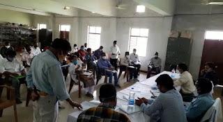 जिला पंचायत सीईओ द्वारा विभागीय अधिकारियों की ली गई समीक्षा बैठक