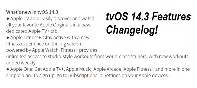 tvOS 14.3 Features
