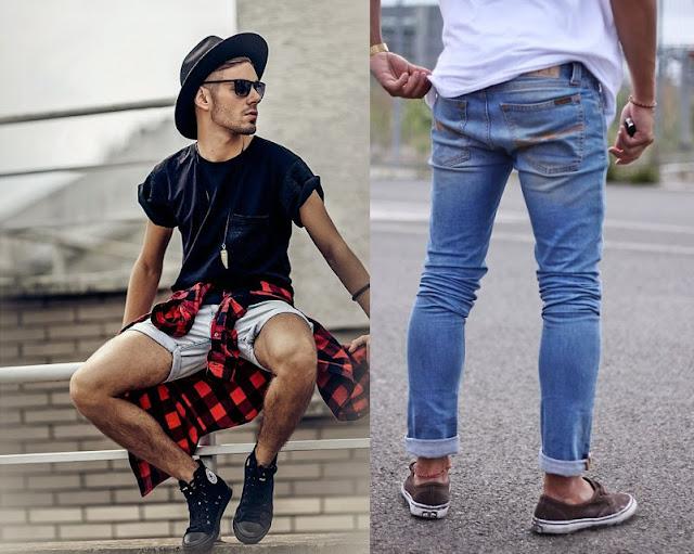 Look masculino com Jeans Claro, Camisa xadrez masculina (1)