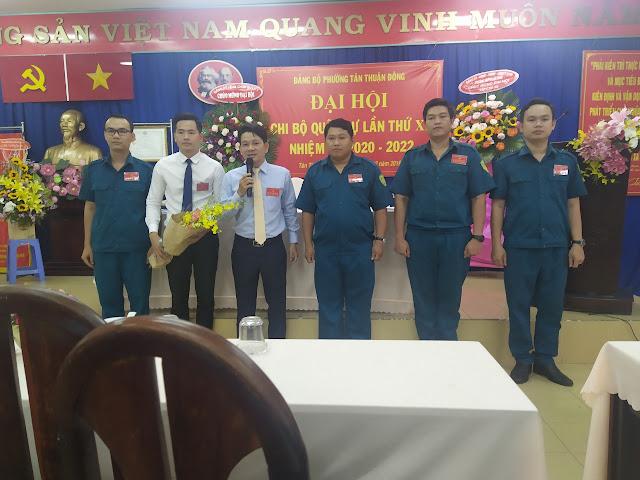 Phường Tân Thuận Đông Đại hội chi bộ quân sự lần thứ XI nhiệm kỳ 2020-2022