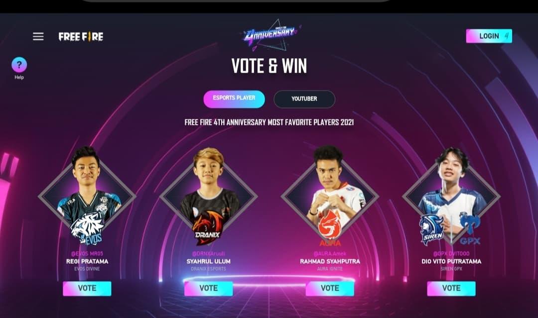 free fire garena co id vote