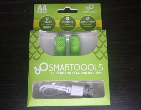 baterai aa rechargeable smartoools