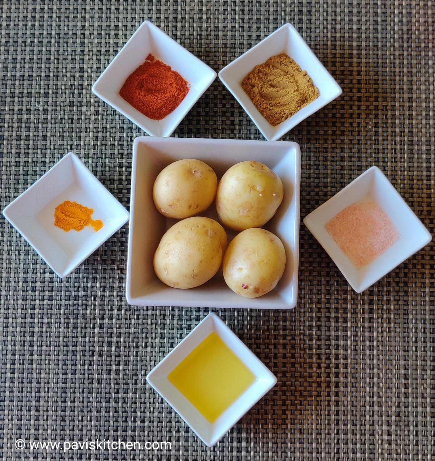 South Indian Urulai kizhangu Roast Recipe | South Indian Spicy Potato Roast Recipe | Batata Roast