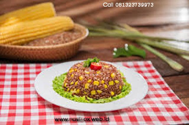 Resep nasi merah jagung gurih nasi box walini ciwidey