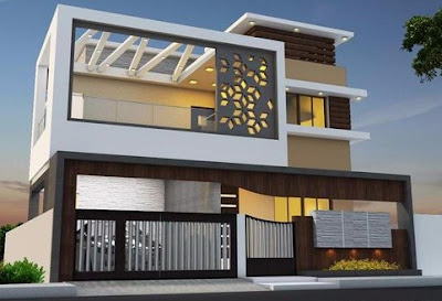Best 60 modern house front facade design - exterior wall