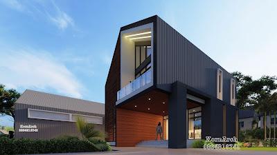 รับออกแบบออฟฟิศ2ชั้น-Workshop-บ้านพัก-โรงรถ-รั้ว เจ้าของอาคารบริษัท โอดีลส์ พลัส จำกัด สถานที่ก่อสร้าง ลำลูกกา จ.ปทุมธานี