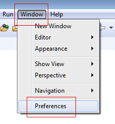 Eclipse windows and preferences