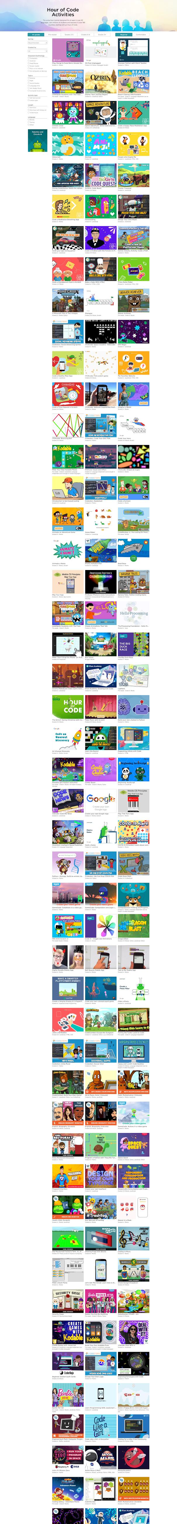 Hour of Code Activities di Code.org Untuk Bermain Sambil Belajar Coding di Rumah