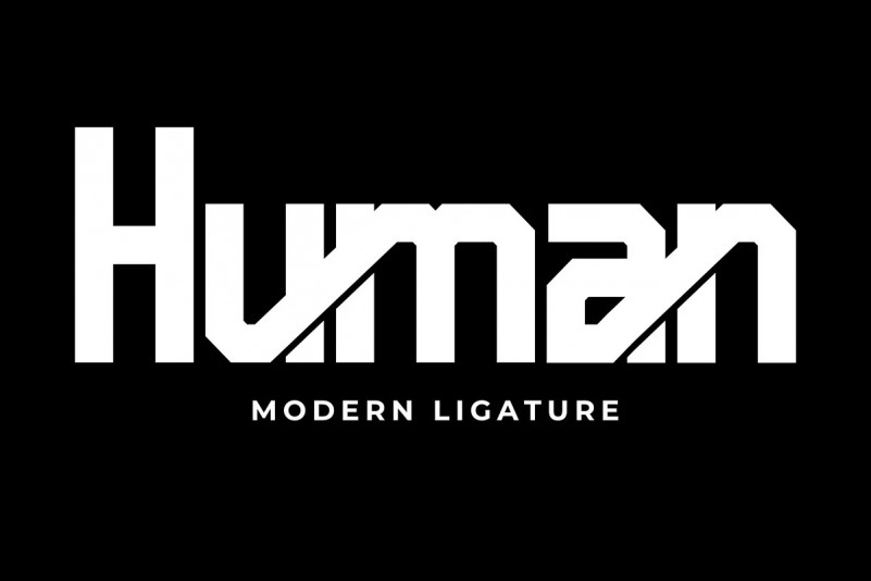 Pro Human Font - Free Techno Display Typeface