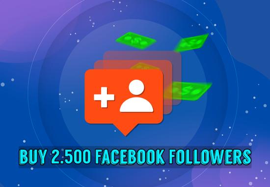 Buy 2500 Facebook Followers