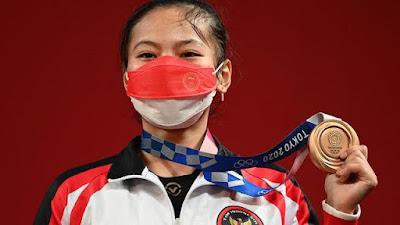 Hari Pertama Olimpiade, Indonesia Raih Medali Cabang Angkat Besi