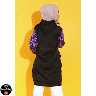Jaket Hijab Army Sweet Violet Black Purple Hijacket Casual Jaket Muslimah