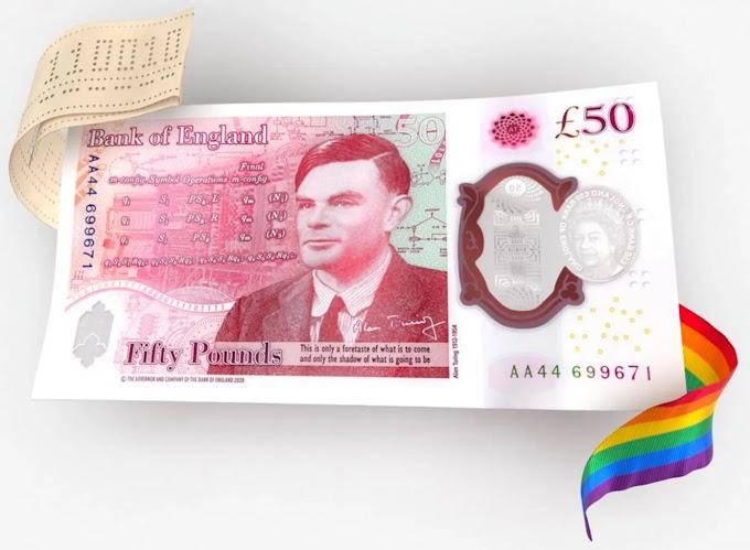 Matemático gay, Alan Turing, estampa nova cédula de 50 libras
