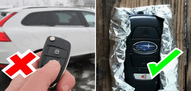 كيف يمكن لورق الالمنيوم ان يحمي سيارتك من السرقة