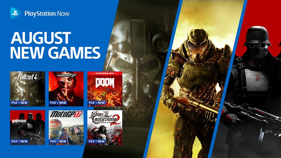 playstation now doom fallout 4 wolfenstein new order tekken 7 ps4 lineup sony