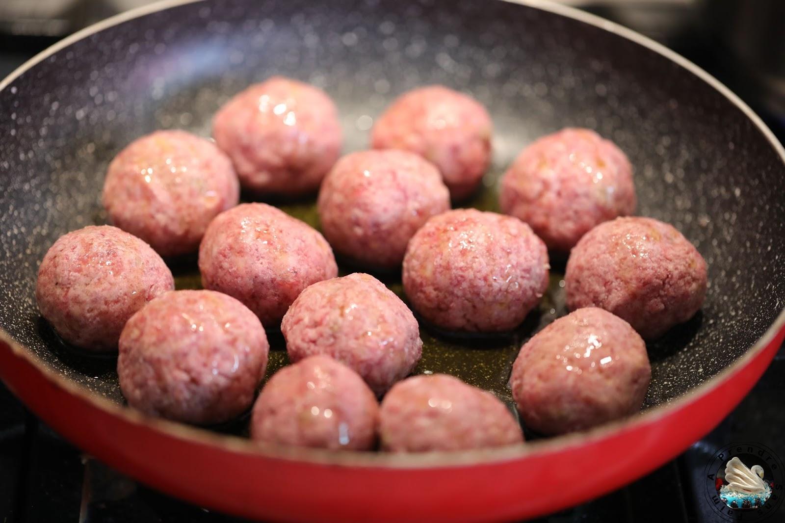 Pâtes aux boulettes de bœuf fait maison