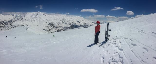 Snowboarding in Dizin, Iran