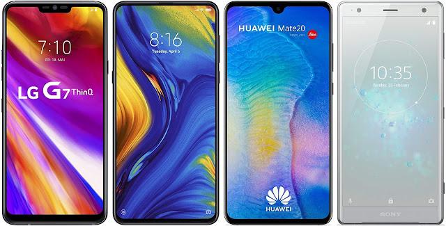 LG G7 ThinQ vs Xiaomi Mi Mix 3 vs Huawei Mate 20 vs Sony Xperia XZ2