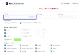 Keyword Everywhere, keyword, cpc, volume, google