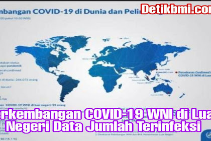 Perkembangan COVID-19 WNI di Luar Negeri Data Jumlah Terinfeksi